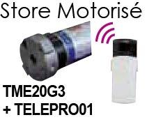 motorisation store 105 TME20G3 + telecommande TELEPRO01