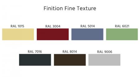 RAL finition fine texture volet battant et coulissant